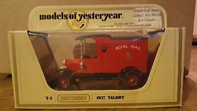 MATCHBOX MODELS OF YESTERYEAR Y12 Ford T Code 3 Royal Mail ( Sans GR ) • 7.32£