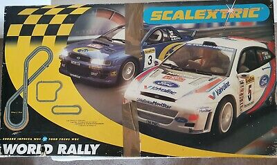 Scalextric World Rally, Subaru & Ford Complete Set • 20£