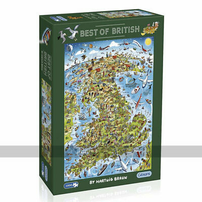 Gibsons Best Of British 1000 Piece Jigsaw Puzzle • 22.99£