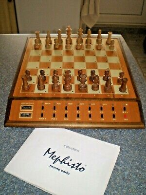 Mephisto Monte Carlo Chess Computer Complete And Woking • 100£