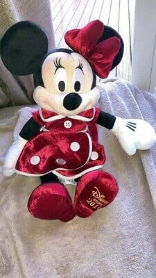 Official Disney Store Minnie Mouse Christmas Plush 2014 BNWT • 2.50£