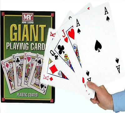 A4 GIANT Jumbo Big PLAYING CARDS Full Deck Outdoor Garden Large Party Game BBQ • 6.95£