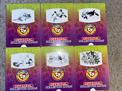 Ty Beanie Babies, Official Sliding Collector Cards X6 • 6£