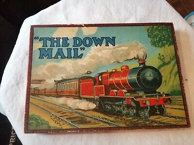 Vintage Chad Valley 1950 'sRailway Game  The Down Mail  Complete And In VGC • 20£