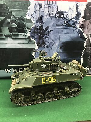 King And Country Dd224 Us Army M3a3 Stuart Tank Military Toy Soldier Vehicle • 169.99£