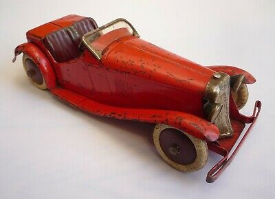 Meccano Clockwork Two Seater Sports Car Non Constructor 1930s • 400£