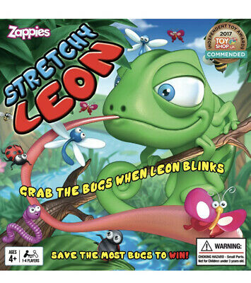 Stretchy Leon Bug Catching Game 1-4 Players Age 4+ Kids Party Game Kids Gift • 12.75£