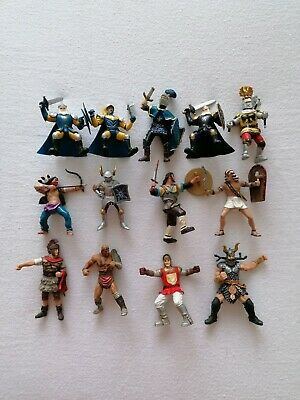Various Plastic Figures Incl Papo 2002 Gladiators, Knights, Indian Toys X13 • 16£