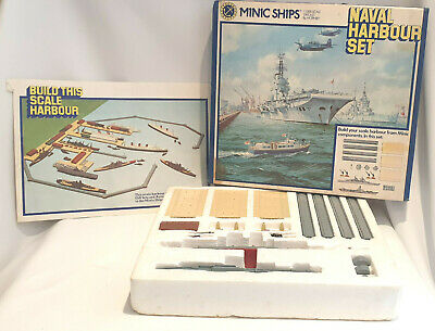 **Minic Ships By Hornby Naval Harbour Set 1:1200 Scale MIP**  • 70£