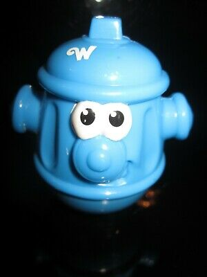 Rare Vintage Weeble Figure BLUE FIRE HYDRANT • 12.99£