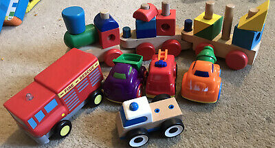 Baby Toddler Toys Cars Train Fire Engines Wooden And Plastic • 2.50£