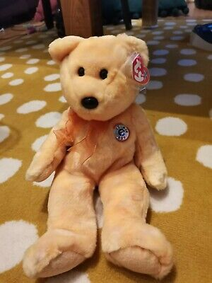 Ty Large Beanie Babies - 'Sunny' (Bear) - New With Tag + Protector. • 10£