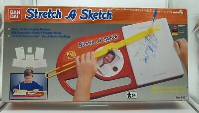 Vintage Rare Bandai 1980s Stretch A Sketch Picture Warping Art Toy • 14.99£