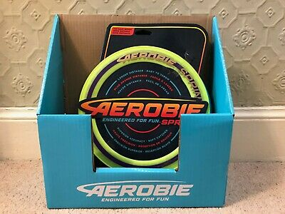Aerobie Sprint 10  Flying Ring / Disc Outdoor Frisbee Red / Yellow / Blue • 6.99£