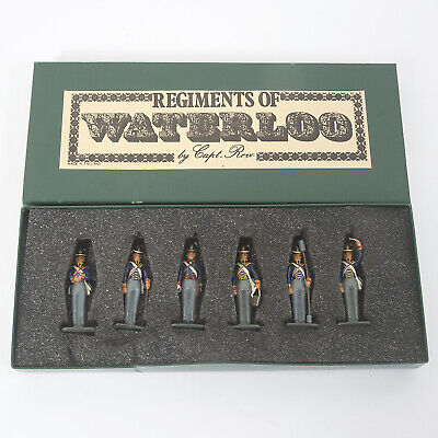 6  FIGURES OF REGIMENTS OF WATERLOO By CAPT. REVO • 20£
