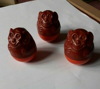 Vintage Airfix Weeble Monkeys X 3, Good Used Condition • 6.99£
