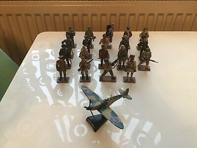 19 Del Prado Men At War Figures-vintage-Amazing Condition With Bonus Spitfire • 35£