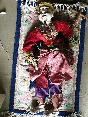 Rare Antique Indean Wooden Puppet 28  Tall • 21£