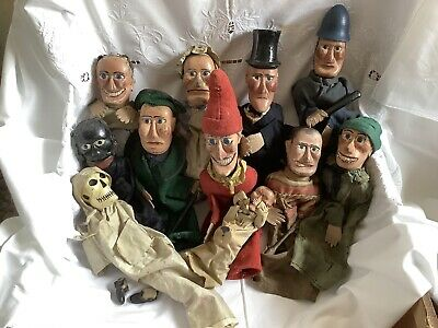 Antique Travellers/Parlour Punch And Judy Puppet Set Rare • 700£