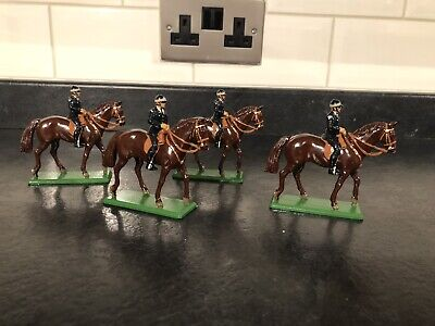Britains, 4 X Police Officers On Horseback, Horses, Police, Britain's Toys • 5.50£