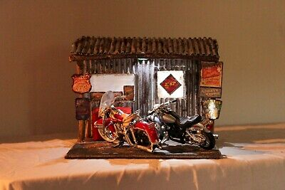 1:18 Harley Davidson Diorama - Stop On Route 66 - Handmade • 90£