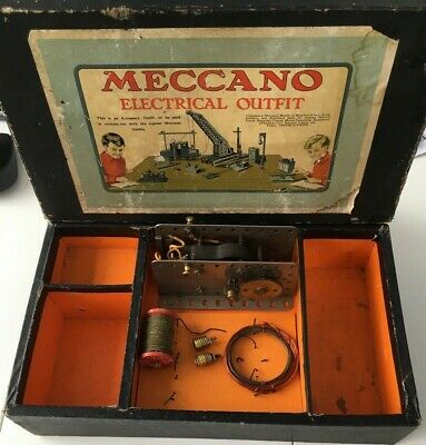 Meccano Prewar 1920,s No 2 Electrical Outfit Box And Few Parts As Pictured Rare. • 62£
