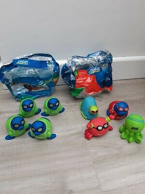 Zoggs Little Squirts~zoggy Search & Rescue Swimming Pool Dive Toys X 2 Packs • 9.99£