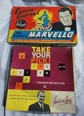 Vintage The Great Marvello Eamon Andrews & Take Your Pick Michael Miles 1958. • 5.50£