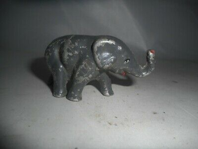 Vintage Painted Solid Lead Walking Elephant Toy • 4.99£