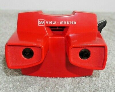 GAF VIEWMASTER STEREO VIEWER RED MODEL J RARE VINTAGE 1970's TOY  I023 • 12.95£