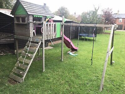 Kids Garden Playhouse Treehouse For Children Swing Slide • 150£