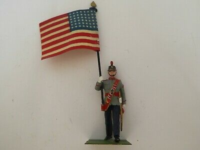 U.S. West Point Cadet With Stars And Stripes Flag • 12£