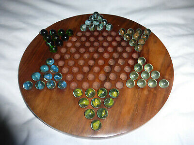 Chinese Checkers Board And Marbles • 8.50£