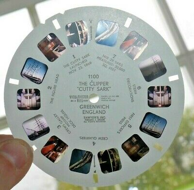The Clipper  Cutty Sark  Greenwich England Viewmaster Reel 1100 Ship Rare I146 • 29.95£
