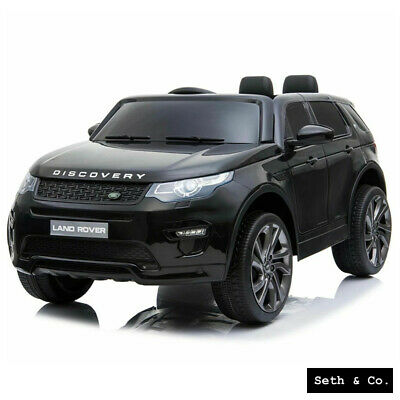 Kids Electric Car 12v Land Rover Discovery 2 Seater Battery Ride On Remote Black • 219.99£