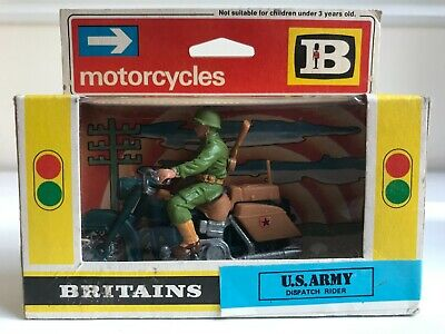 BRITAINS No. 9682 U.S. ARMY DISPATCH RIDER IN UNOPENED BOX • 21.99£