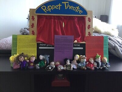 Wooden Puppet Theatre, ELC Puppets And Story Cards  • 27£