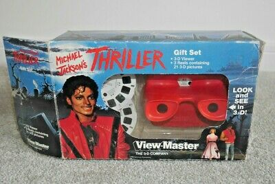 Michael Jackson's Thriller Viewmaster Gift Set 1984 Complete Rare Boxed  G619 • 195£
