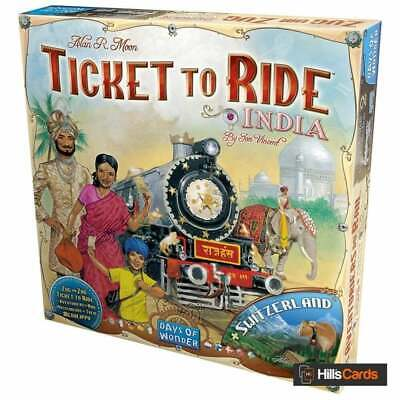 Ticket To Ride India + Switzerland Board Game Map Expansion By Days Of Wonder • 24£