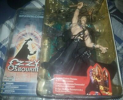 Ozzy Osbourne Autographed Action Figure McFarlane Tops Stage Diorama Signed • 250£