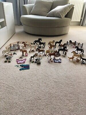 Schleich Bundle (20 Ind Sets) Inc 19 Horses/various Riders/tack/accessories • 125£