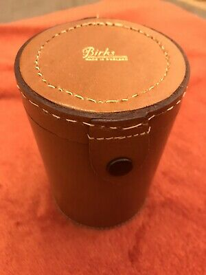 Vintage Birks Leather Dice Shaker With 7 Dice • 10£