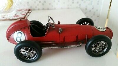 Supurb Tin Plate Red Racing Car Large At 16 Inch Excellent Condition • 35£