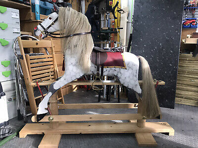 Hand Carved Wooden Rocking Horse • 850£
