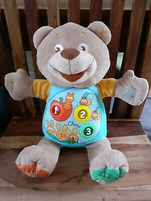 Chicco Teddy Count With Me Bilingual Bear French English Interactive 6 Month + • 19£