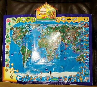 LEARNING My World Interactive Map-Educational Talking Russian Toy • 10£