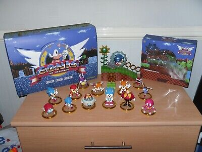 Kidrobot Sonic The Hedgehog Complete Set And Sonic Green Hill Metallic Figure • 295£