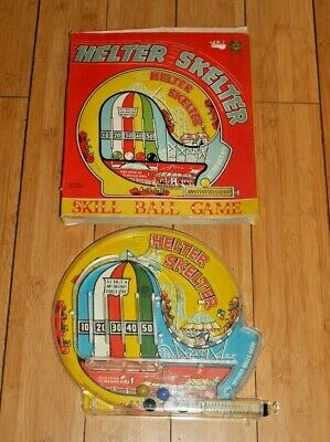 Marx Toys Helter Skelter Skill Ball Game Bagatelle Vintage Toy Rare Boxed  E579 • 9.95£