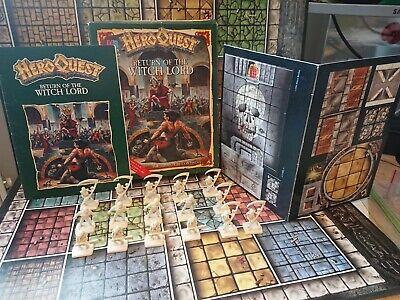 Vintage Mb Return Of The Witch Lord Heroquest Expansion Game With Box  • 7.50£
