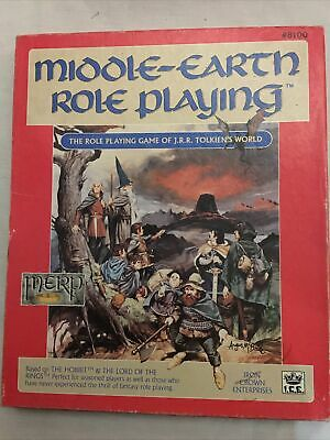 Middle Earth Role Playing Rules MERP - Fantasy Role Play - Boxed 1986 • 12.50£
